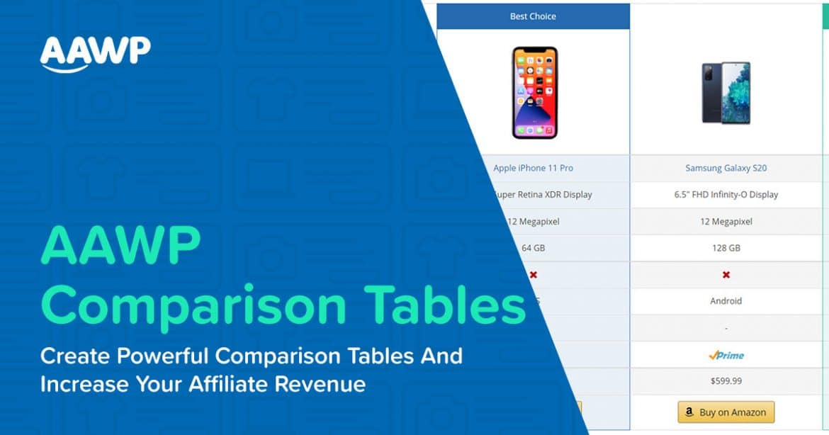Use AAWP Comparison Tables and Increase Your Affiliate Revenue