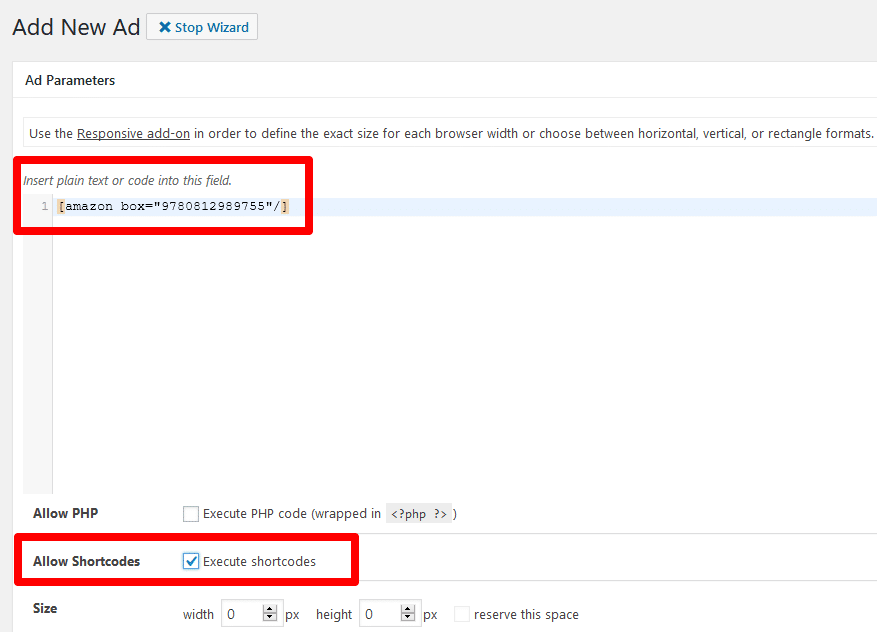Advanced Ads ad parameters