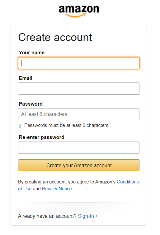 Amazon Associates Affiliate Marketing Program Sign Up