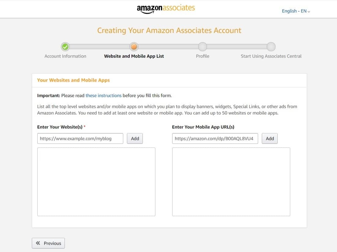 Amazon Associates Affiliate Marketing Program Register