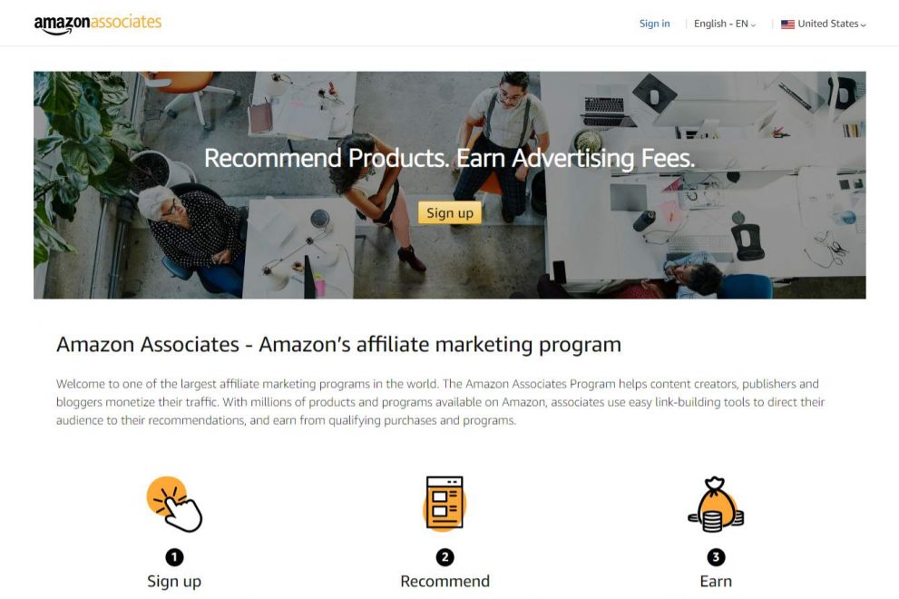 Amazon Associates Homepage - Become an Amazon Affiliate